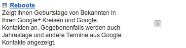 Google Calendar: Geburtstage